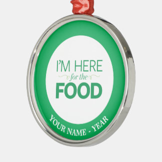 I'm Here for the Food Christmas Ornament
