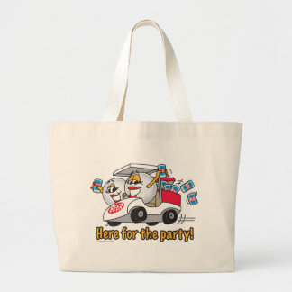 I'm Here For The Party Golf Cart Girls Large Tote Bag