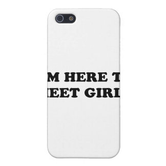 I'm Here To Meet Girls iPhone 5/5S Cases