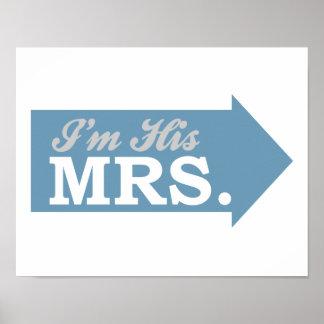 I'm His Mrs. (Blue Arrow) Poster