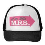 I'm His Mrs. (Hot Pink Arrow) Mesh Hat