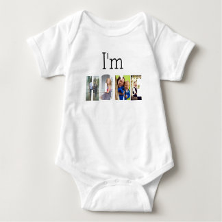 I'm HOME photo collage Baby Bodysuit