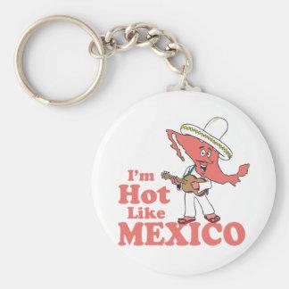 I'm Hot Like Mexico T-shirt Basic Round Button Key Ring