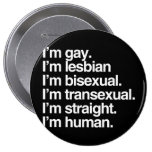 I'm human just like you buttons