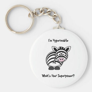 I'm Hypermobile, What's Your Superpower? Zebra Key Ring