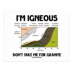I'm Igneous Don't Take Me For Granite Post Card