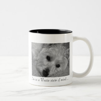 I'm in a Westie state of mind... Two-Tone Coffee Mug
