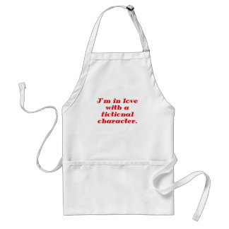 Im in love with a fictional character apron