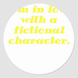 Im in love with a fictional character stickers