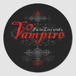 I'm In Love with a Vampire Round Stickers