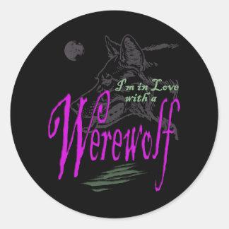 I'm in Love with a Werewolf Round Stickers