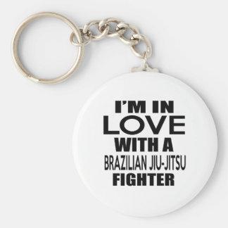 I'M IN LOVE WITH BRAZILIAN JIU-JITSU FIGHTER BASIC ROUND BUTTON KEY RING