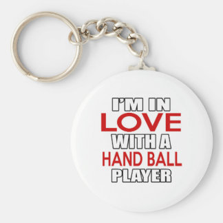 I'm in love with HAND BALL Player Key Ring