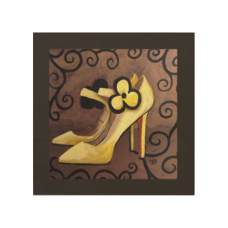 I'm In Love With My Yellow Shoes Wood Wall Art