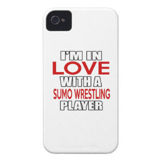 I'm in love with SUMO WRESTLING Player iPhone 4 Case-Mate Cases
