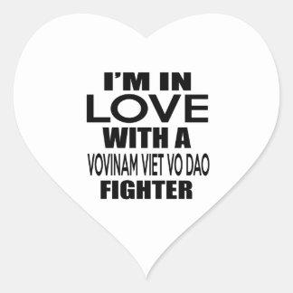 I'M IN LOVE WITH VOVINAM VIET VO DAO FIGHTER HEART STICKER