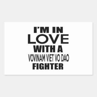 I'M IN LOVE WITH VOVINAM VIET VO DAO FIGHTER RECTANGULAR STICKER