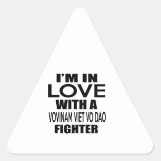 I'M IN LOVE WITH VOVINAM VIET VO DAO FIGHTER TRIANGLE STICKER