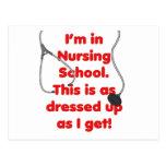 I'm in Nursing School - dressed up Post Cards