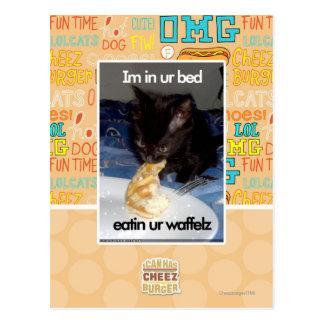 Im in ur bed postcard