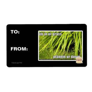 im in ur grass shipping label