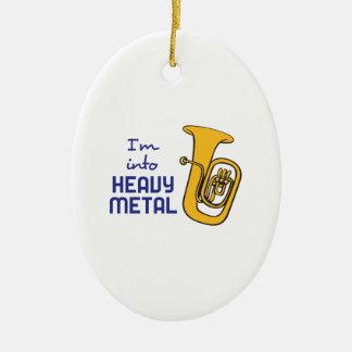 IM INTO HEAVY METAL CERAMIC OVAL DECORATION