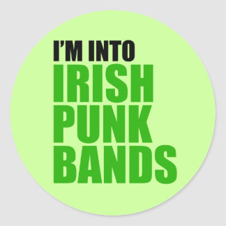I'm Into Irish Punk Bands Sticker