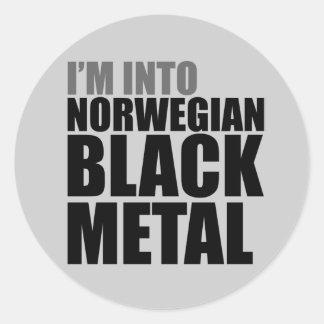 I'm Into Norwegian Black Metal Round Stickers
