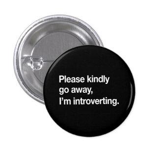 I'm Introverting 3 Cm Round Badge