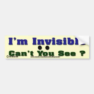 I'm Invisible Bumper Sticker