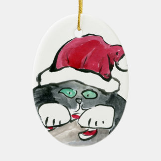 I'm invisible - right says Gray Kitten Christmas Ornament