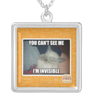I'm Invisible Silver Plated Necklace