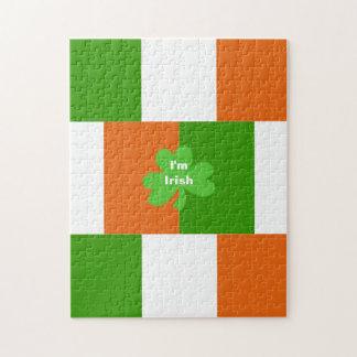 I'm Irish Flag of Ireland Optional Words Jigsaw Puzzle