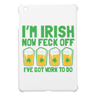 I'm IRISH now feck off I have work to do pint glas iPad Mini Cover