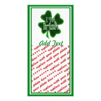 I'm Irish! Photo Card Template