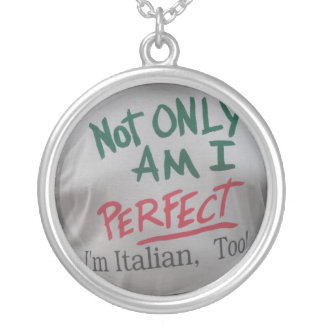 I'm Italian Round Pendant Necklace