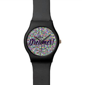 I'm just a dreamer, rainbow design watch
