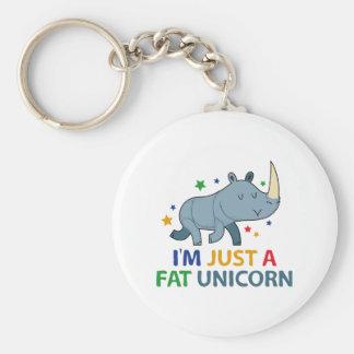 I'm Just A Fat Unicorn Key Ring