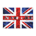 I'm just a Flag! Stretched Canvas Print