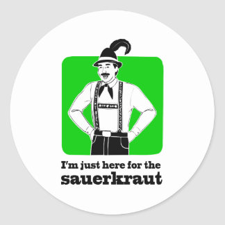 I'm Just Here for Sauerkraut Oktoberfest Shirt Classic Round Sticker