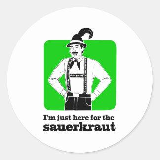 I'm Just Here for Sauerkraut Oktoberfest Shirt Round Sticker