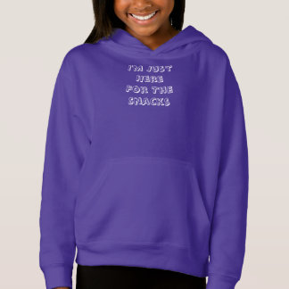 I'm Just Here For The Snacks Kid's Pullover Hoodie