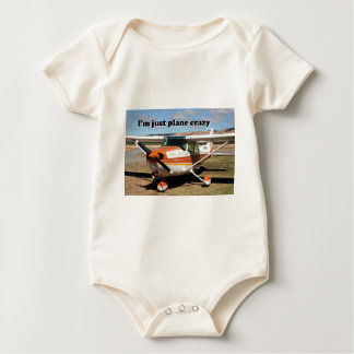 I'm just plane crazy: Cessna aircraft Baby Bodysuit