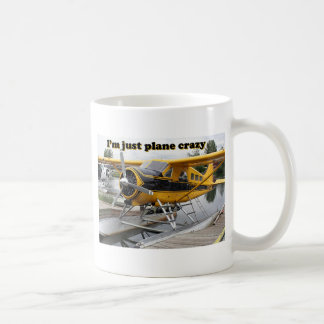 I'm just plane crazy: float plane coffee mug
