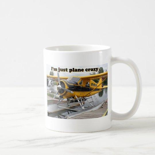 I'm just plane crazy: float plane coffee mug