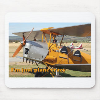 I'm just plane crazy: Tiger Moth mousepad