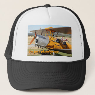 I'm just plane crazy: Tiger Moth Trucker Hat