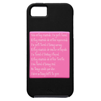 I'M JUST TIRED EMO QUOTES SPANISH ENGLISH POETRY iPhone 5 COVER