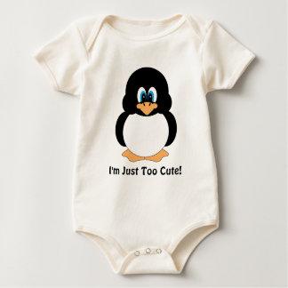 I'm Just Too Cute Penguin Baby Bodysuit