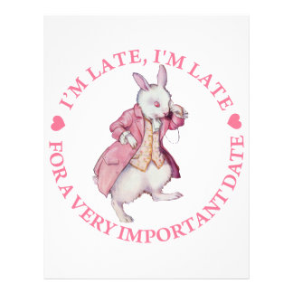 I'M LATE, I'M LATE FOR A VERY IMPORTANT DATE 21.5 CM X 28 CM FLYER